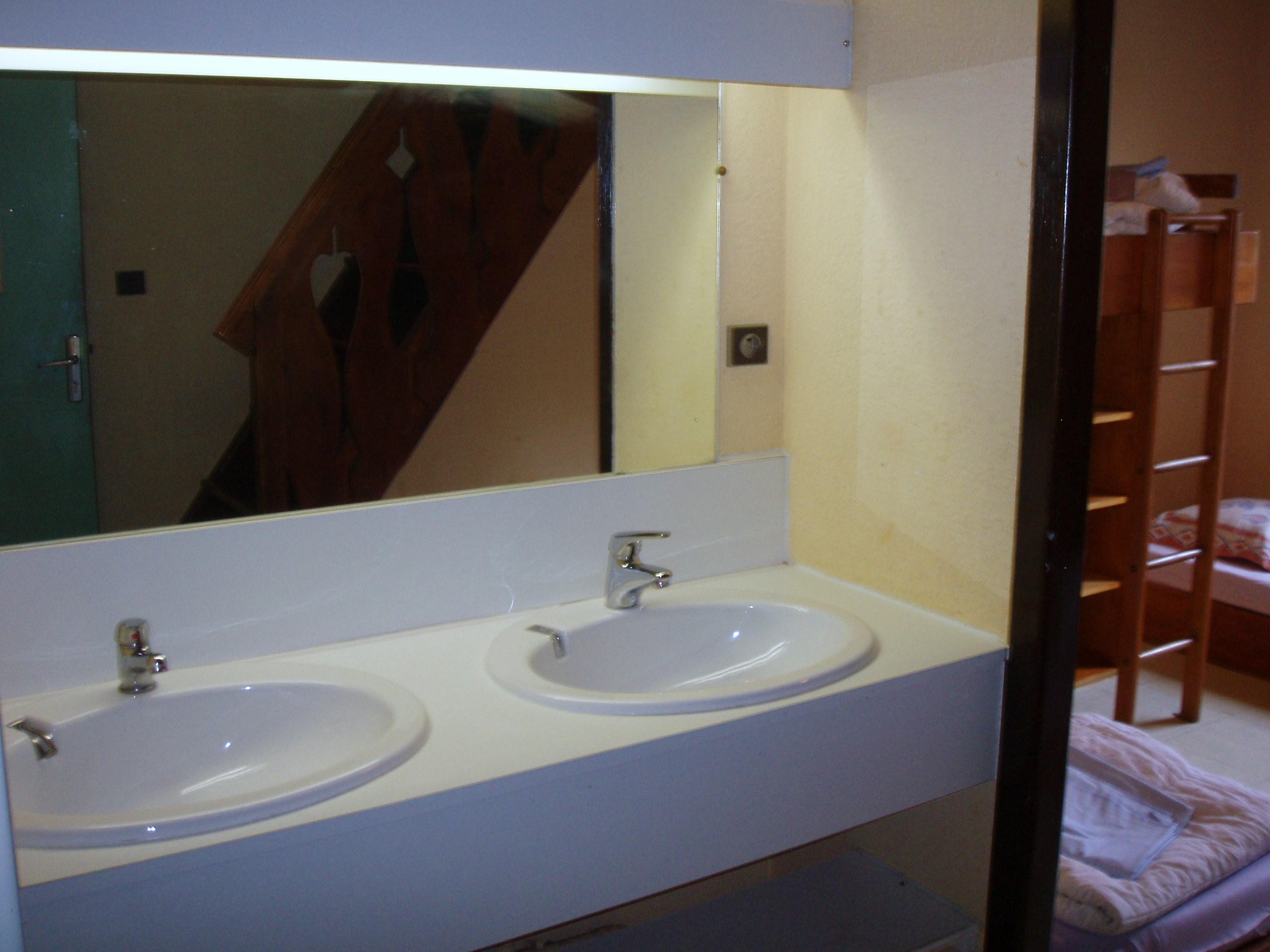 Lavabos des chambres du Chalet Guèroz