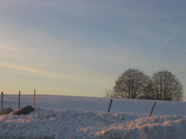 Vue du Chalet Guèroz en hiver
