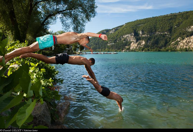 Baignade dans le Lac de Nantua